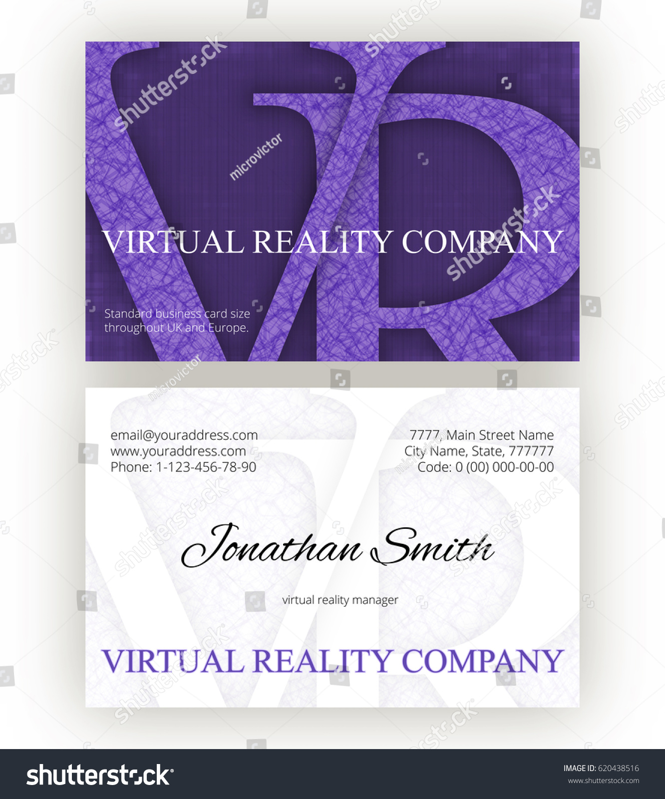 Abstract Business Card Template Virtual Reality Stock Vector ...