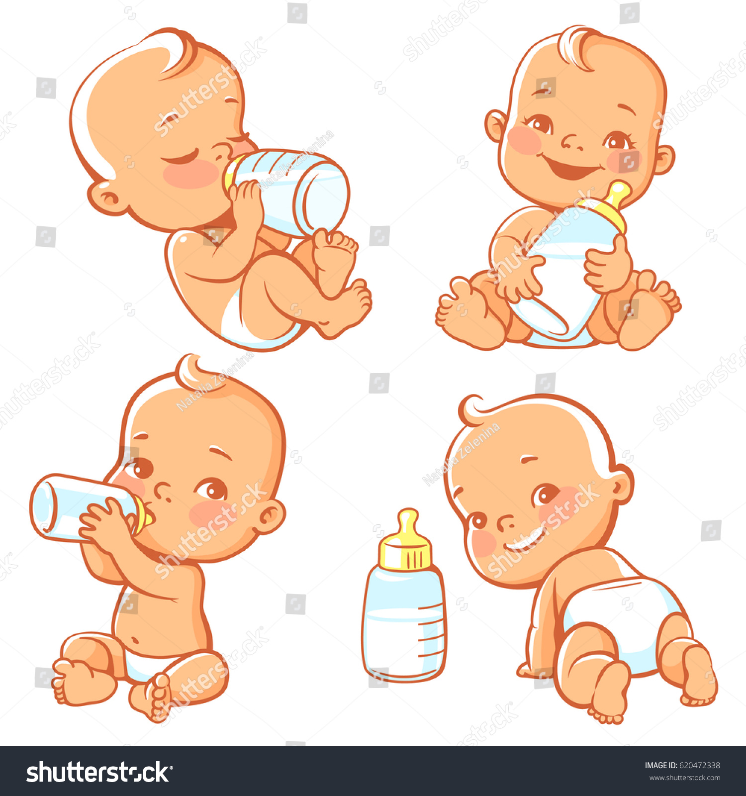 Baby Child Drinking Breastmilk With Happy Mother Isolated ... |Happy Baby Drinking Milk