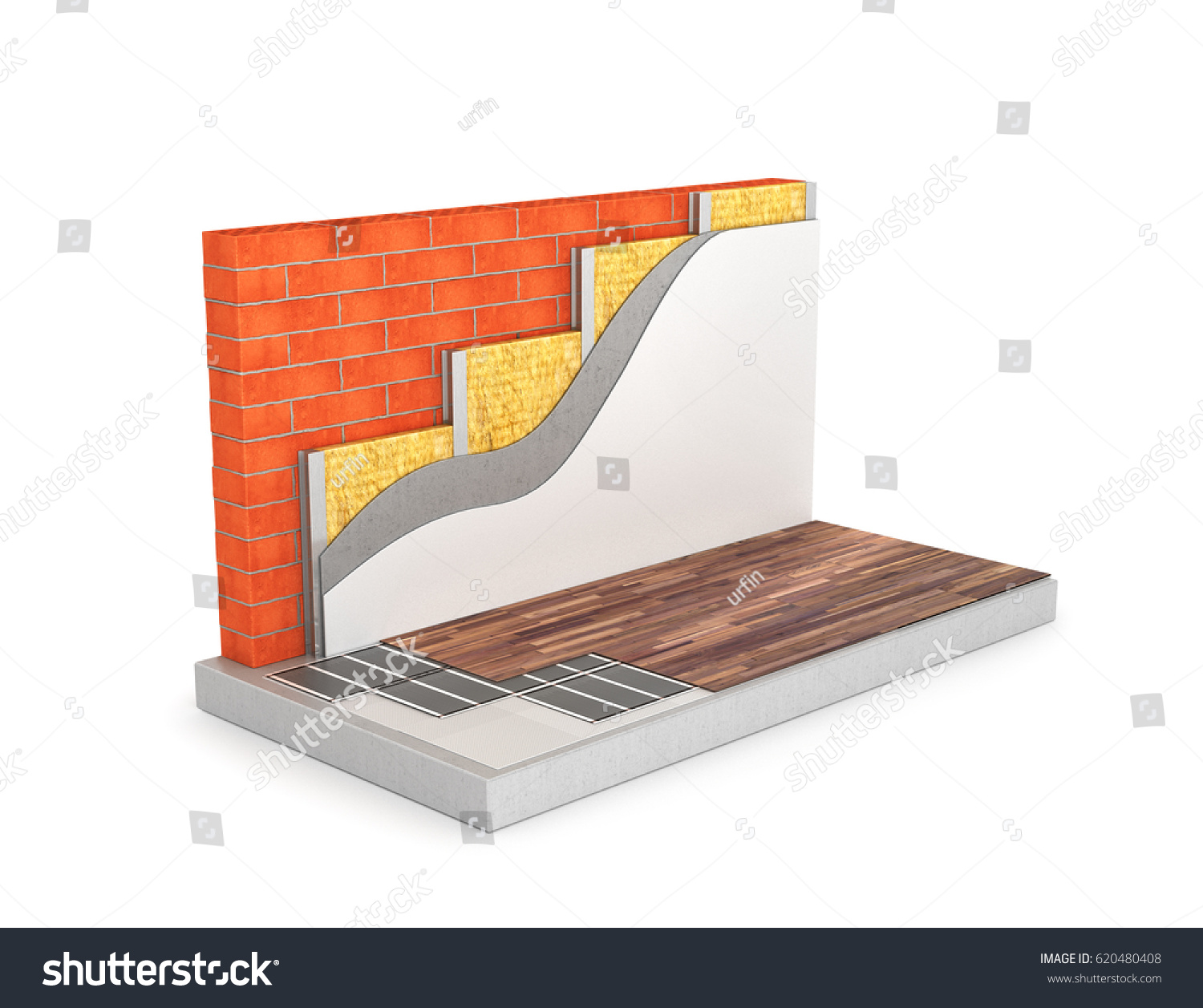 Diagram floor heating circuit wall insulation stock illustration diagram of floor heating the circuit wall insulation 3d illustration ccuart Image collections