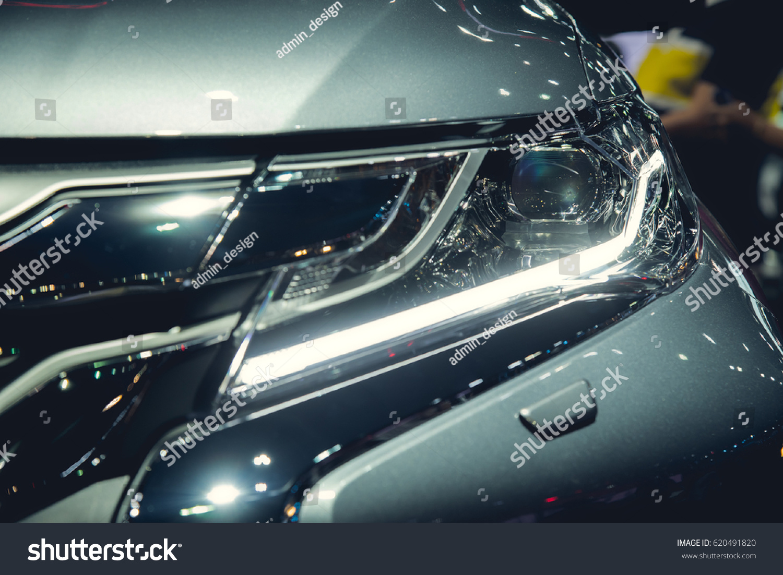 Headlight Modern Luxury Car Auto Detailcar Stock Photo 620491820