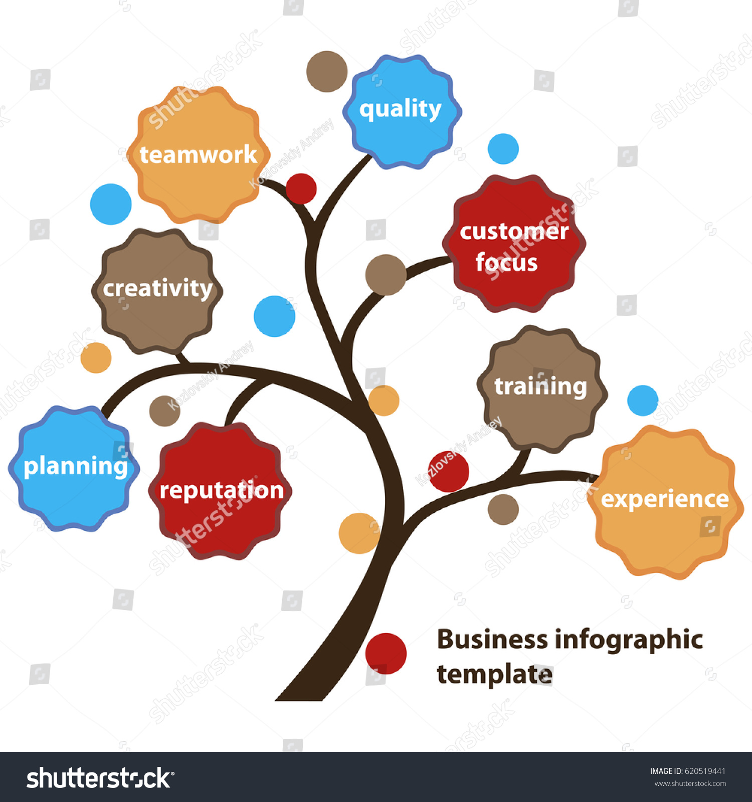 Infographic tree template business presentation stock vector infographic tree template for business presentation flashek Images