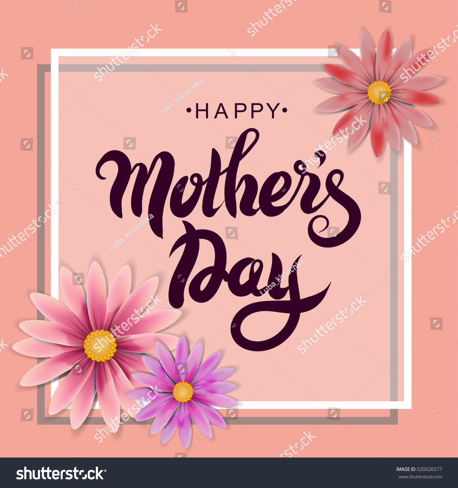 Mothers day greeting card vector illustration stock vector mothers day greeting card vector illustration lettering calligraphy happy mothers kristyandbryce Choice Image