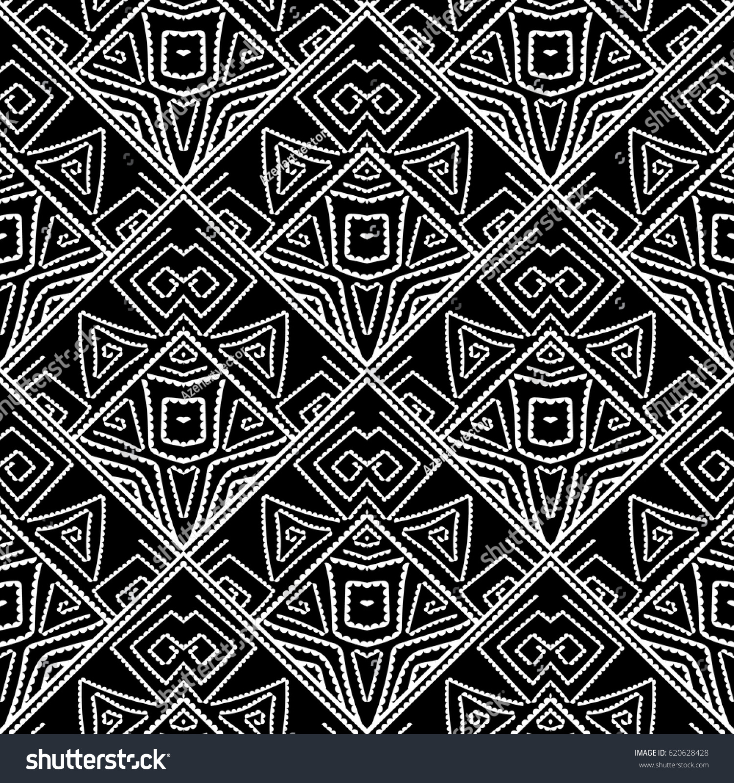 Tribal Navajo Vector Seamless Pattern Aztec Stock Vector