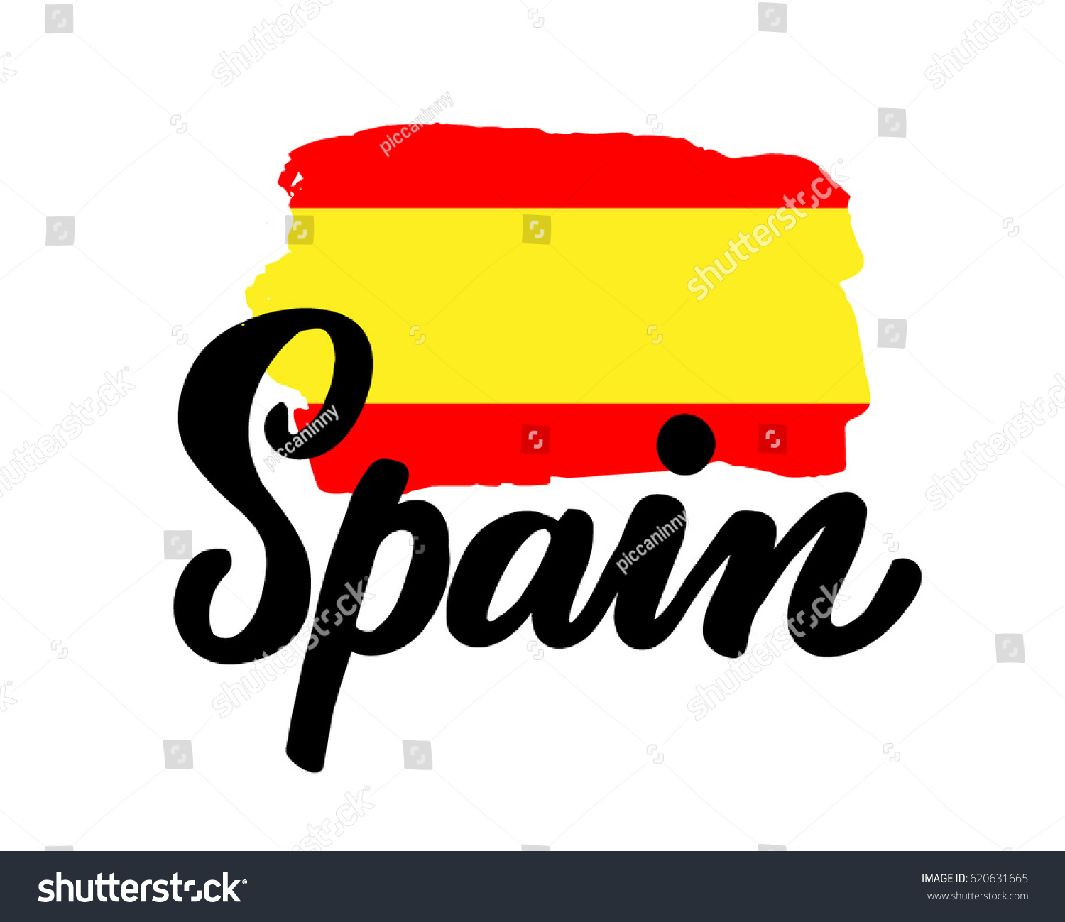 spain hand drawn ink brush lettering stock vector hd royalty free rh shutterstock com spain flag emblem meaning spain flag emblem meaning