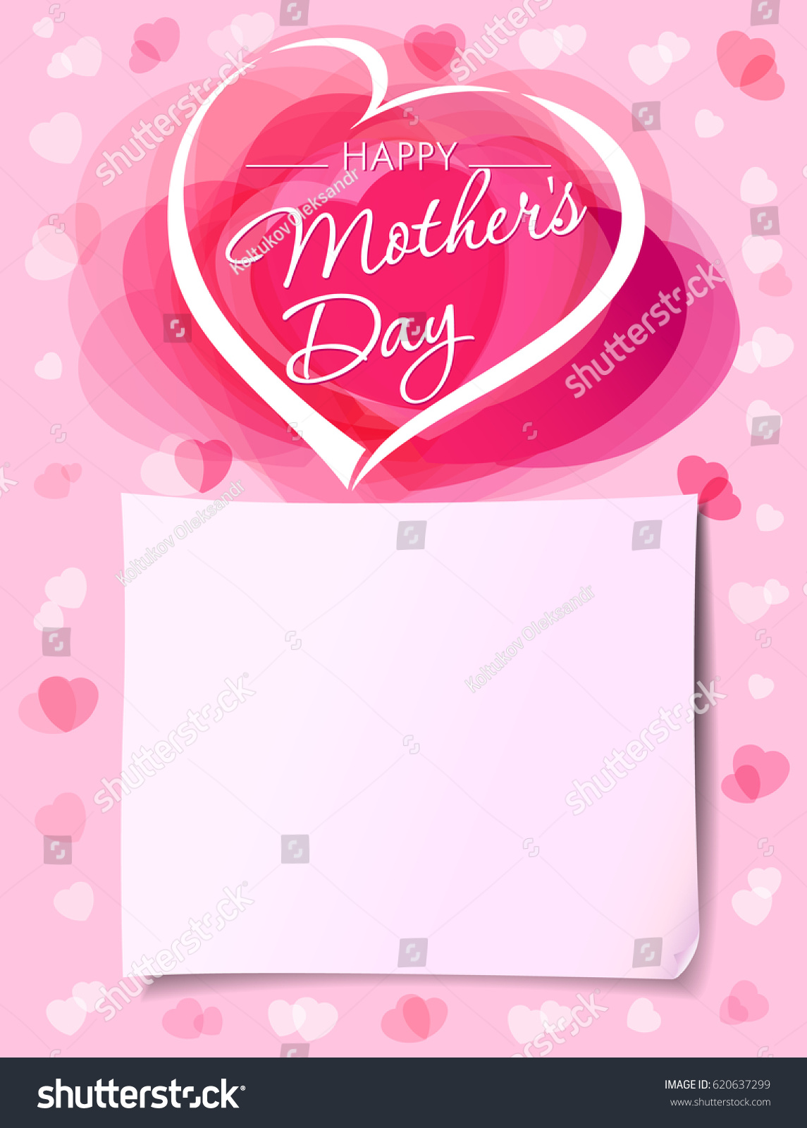 Mothers Day Greeting Card Template Vector Stock Vector Royalty Free