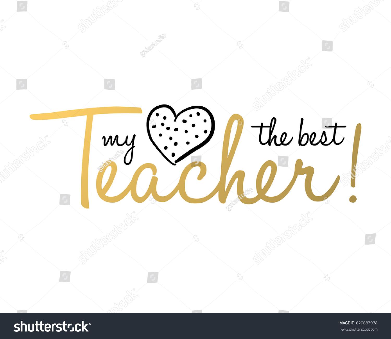 Teachers Day Holidays Card Template Design Stock Vector 620687978