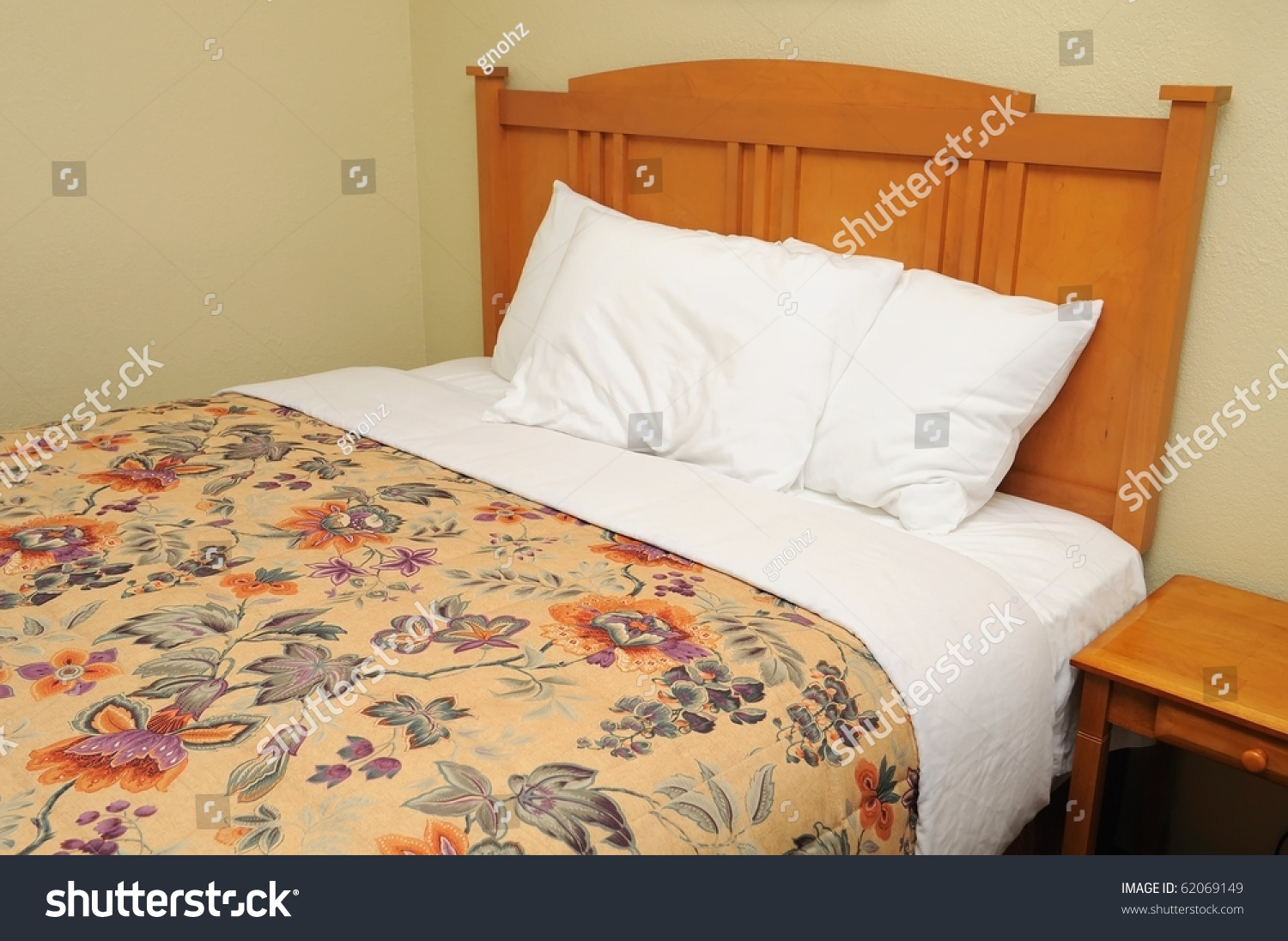 Single generic western style bed suitable stock photo for Western style beds