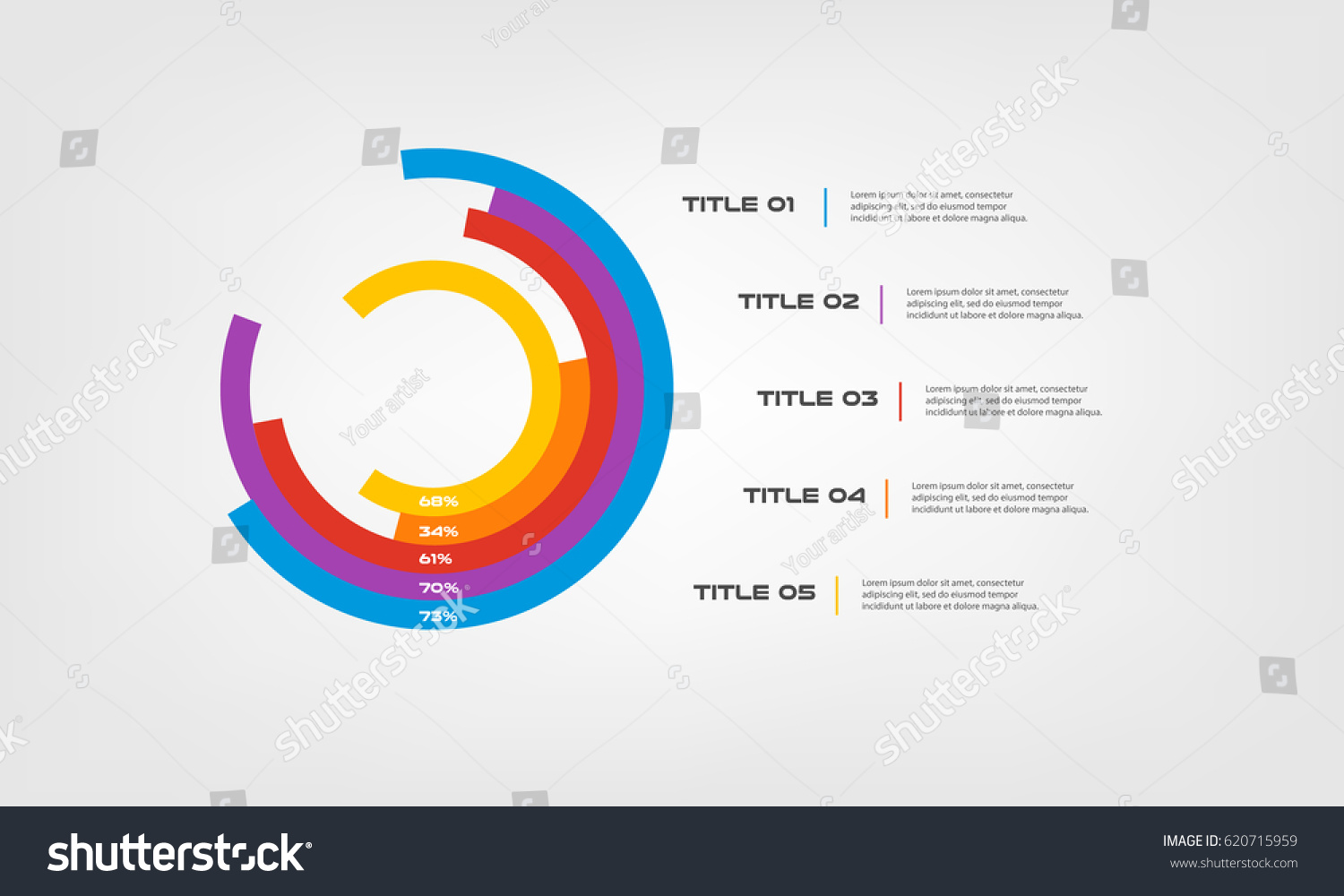 Circular chart color infographics step by stock vector 620715959 circular chart color infographics step by step in a series of circle element of chart nvjuhfo Images