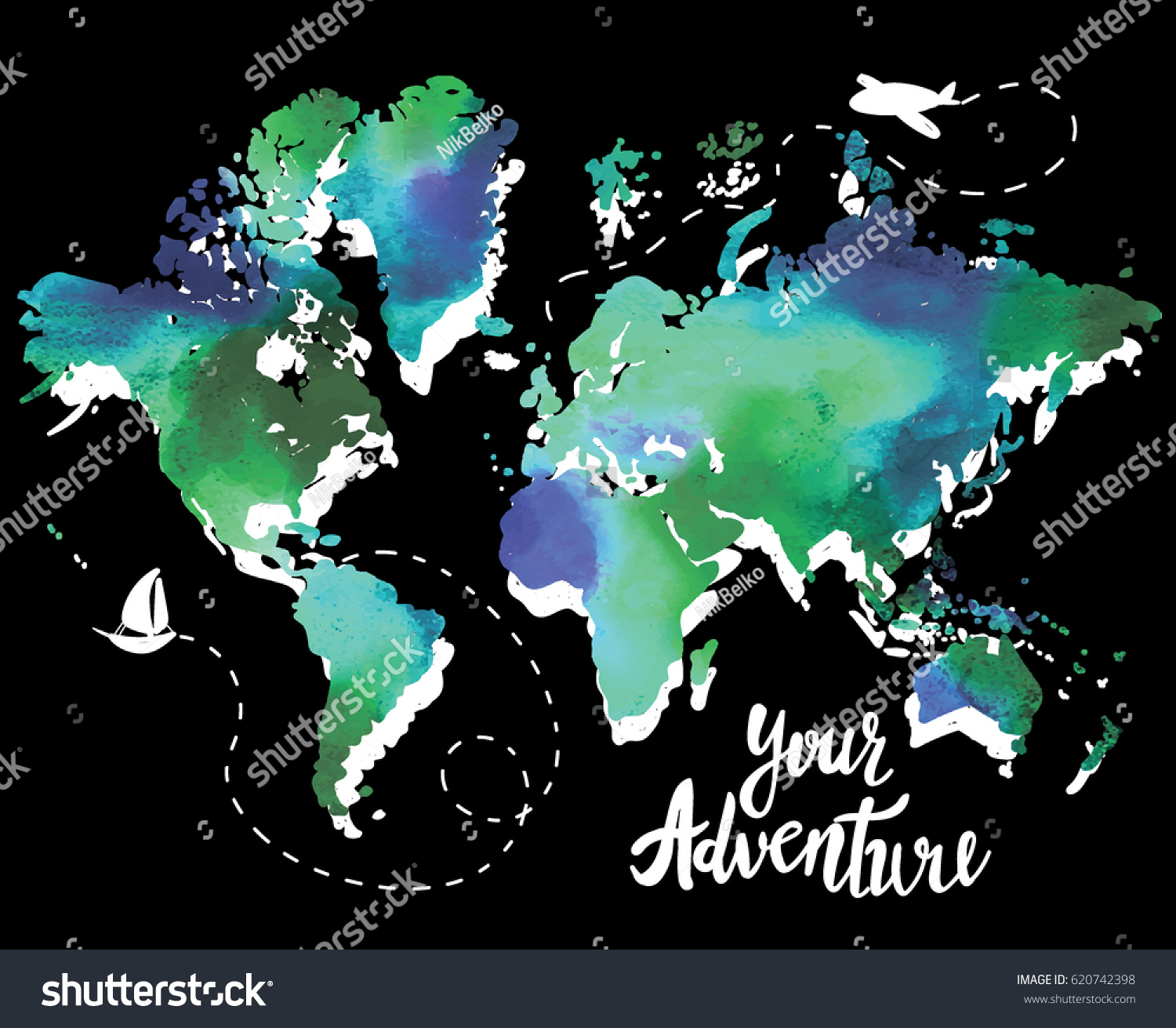 Your adventure drawing by hand childrens stock vector royalty free your adventure drawing by hand childrens drawingight colorful drawing world gumiabroncs Images