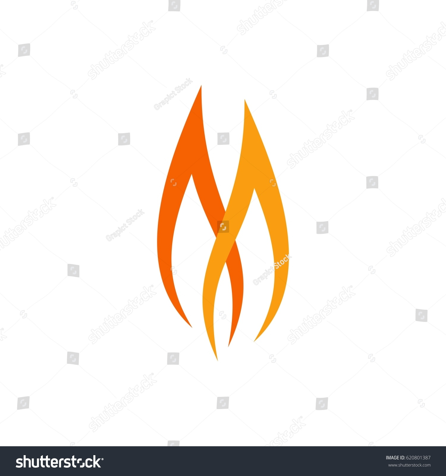 Twin Flame Letter M Stock Vector Royalty Free 620801387 Shutterstock