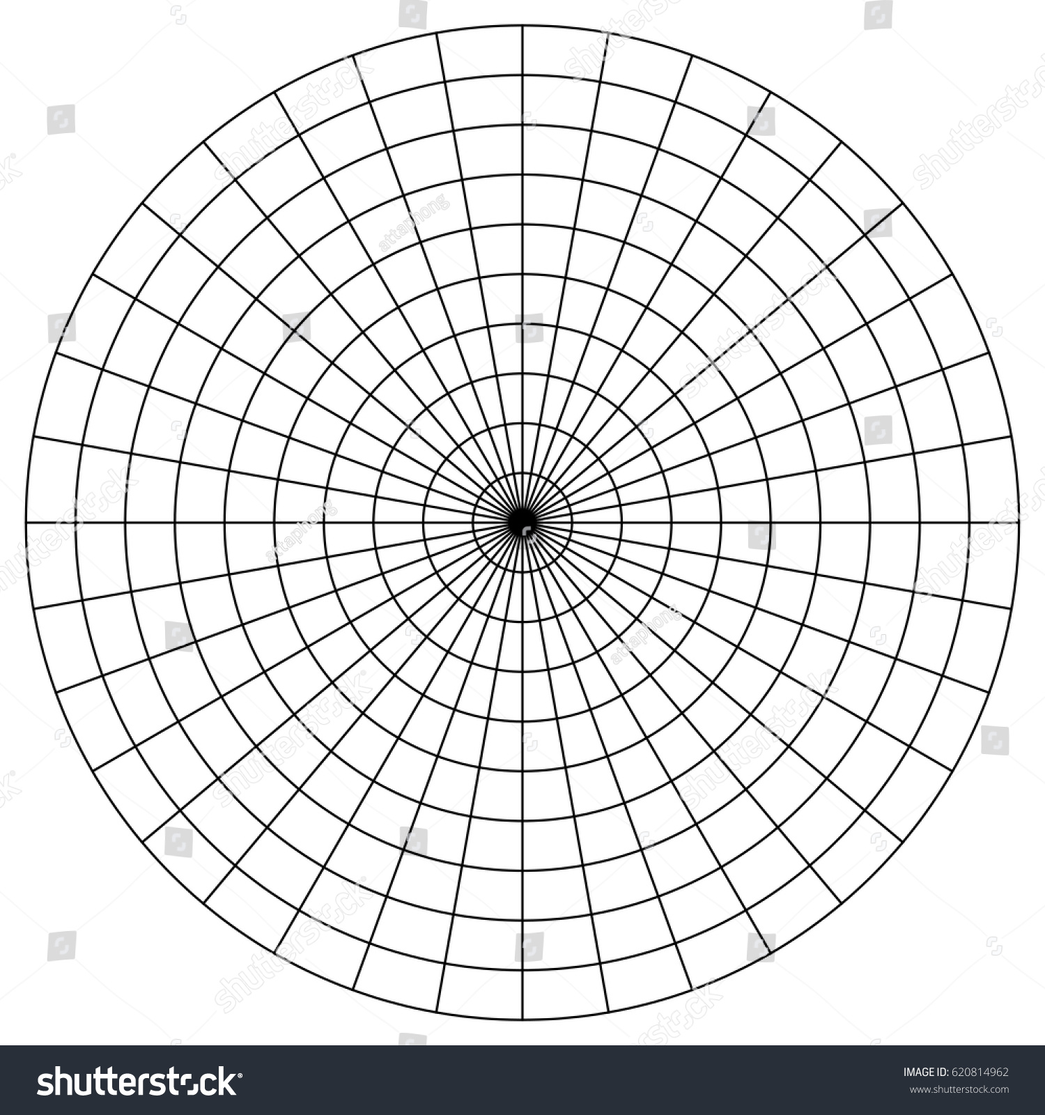 worksheet Polar Graph Paper 4 Per Page blank polar graph paper protractor letter for sponsorship sample pie stock vector 620814962 protractor
