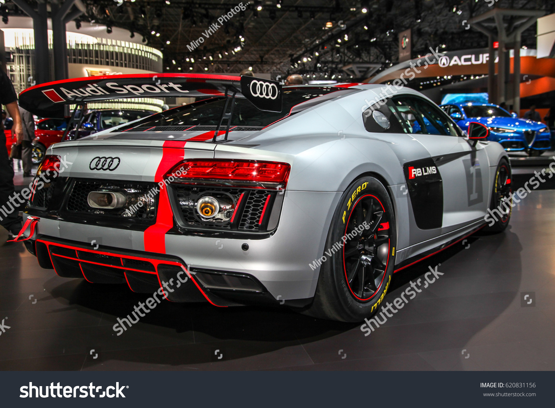 NEW YORKAPRIL Audi R LMS Shown At The New York International - Javits center car show