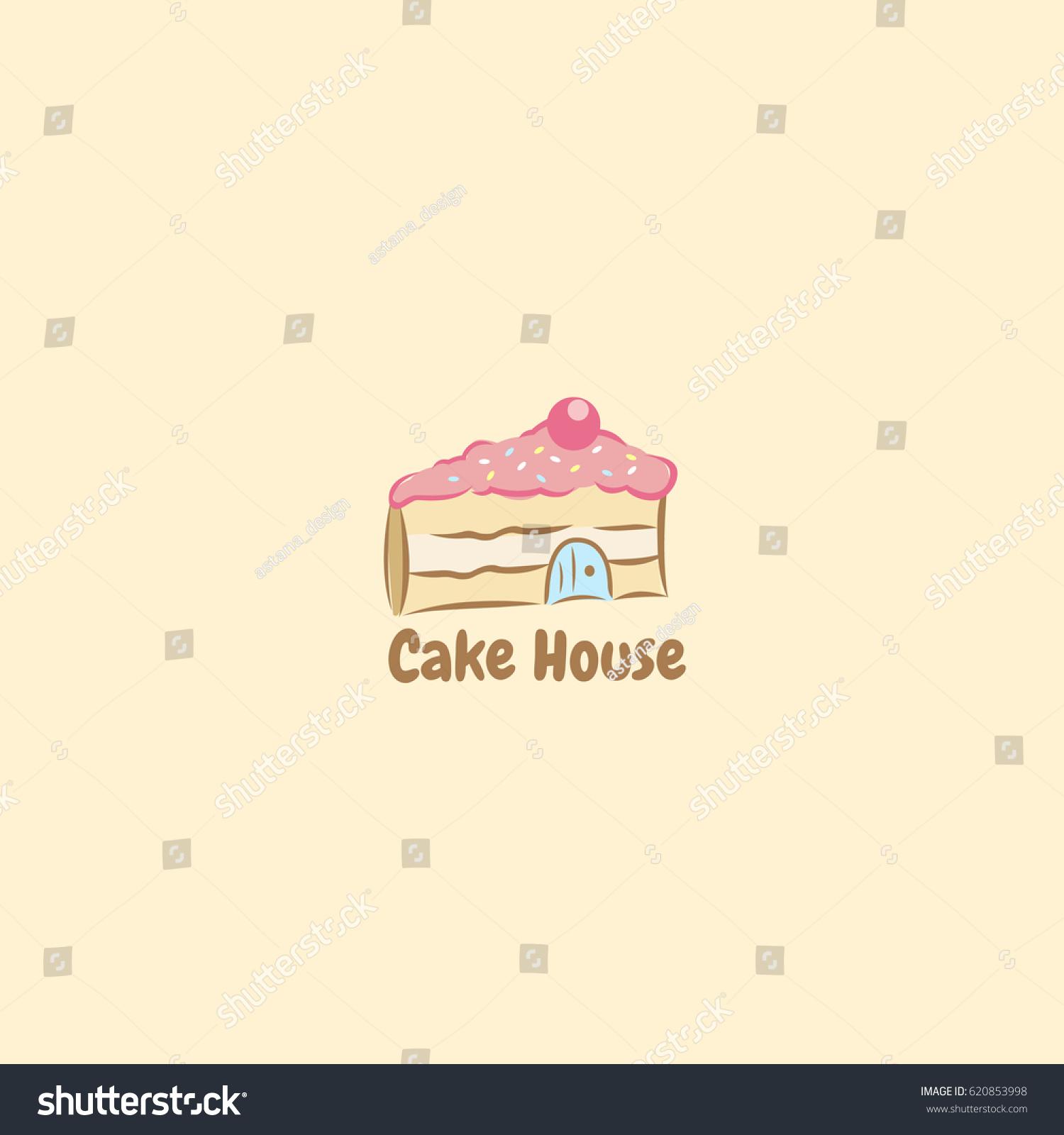 Cake House Logo Stock Vector Royalty Free 620853998 Shutterstock