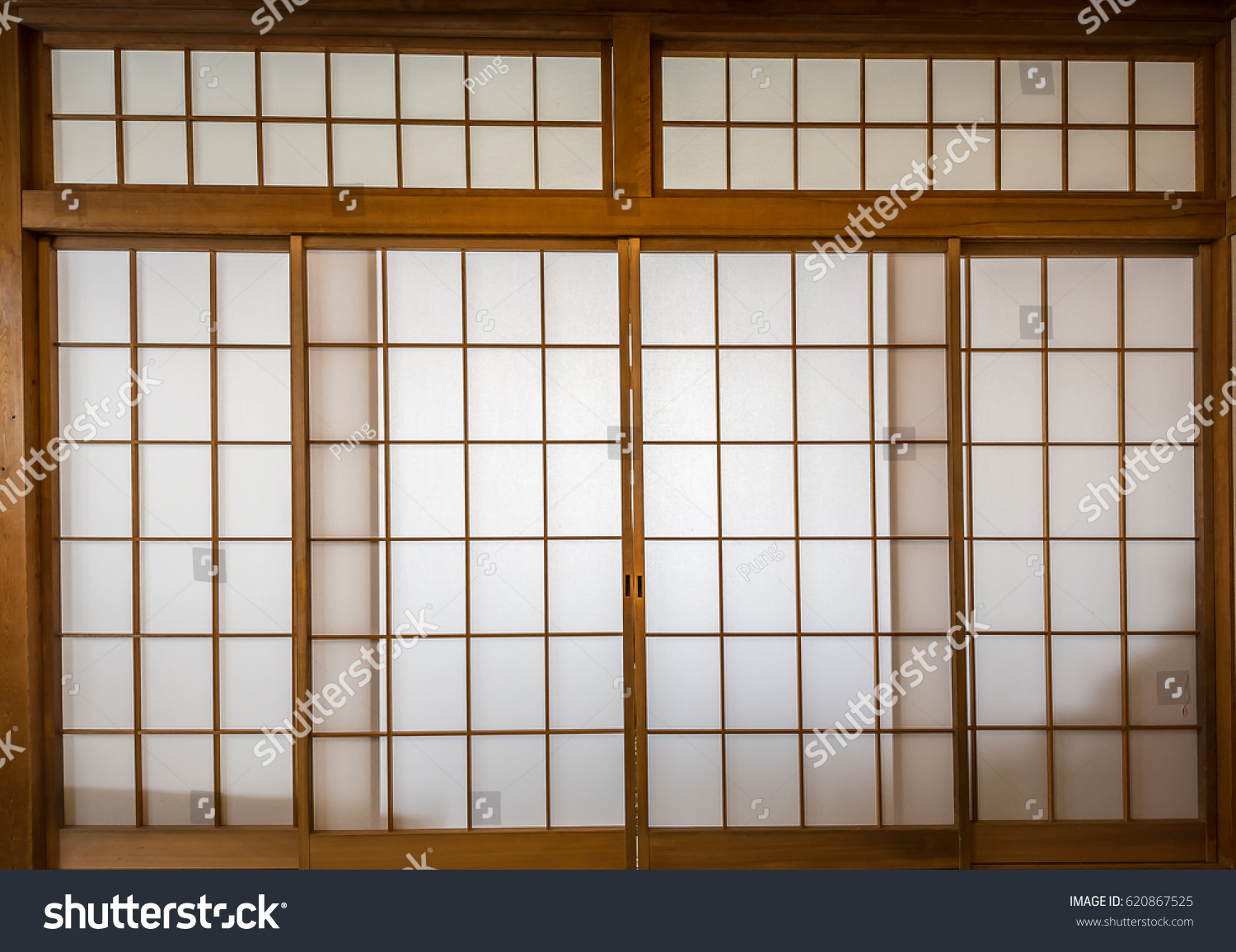 Shoji  Traditional Japanese door made of rise paper & Shoji Traditional Japanese Door Made Rise Stock Photo 620867525 ... pezcame.com