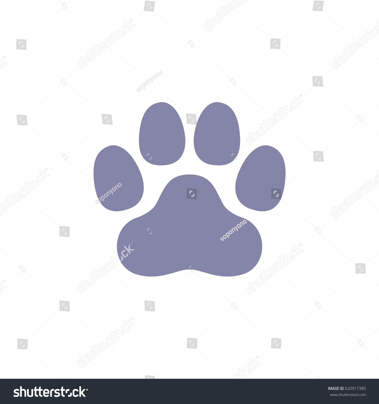 Dog Paw Print Logo Template Stock Vector 620917385 - Shutterstock