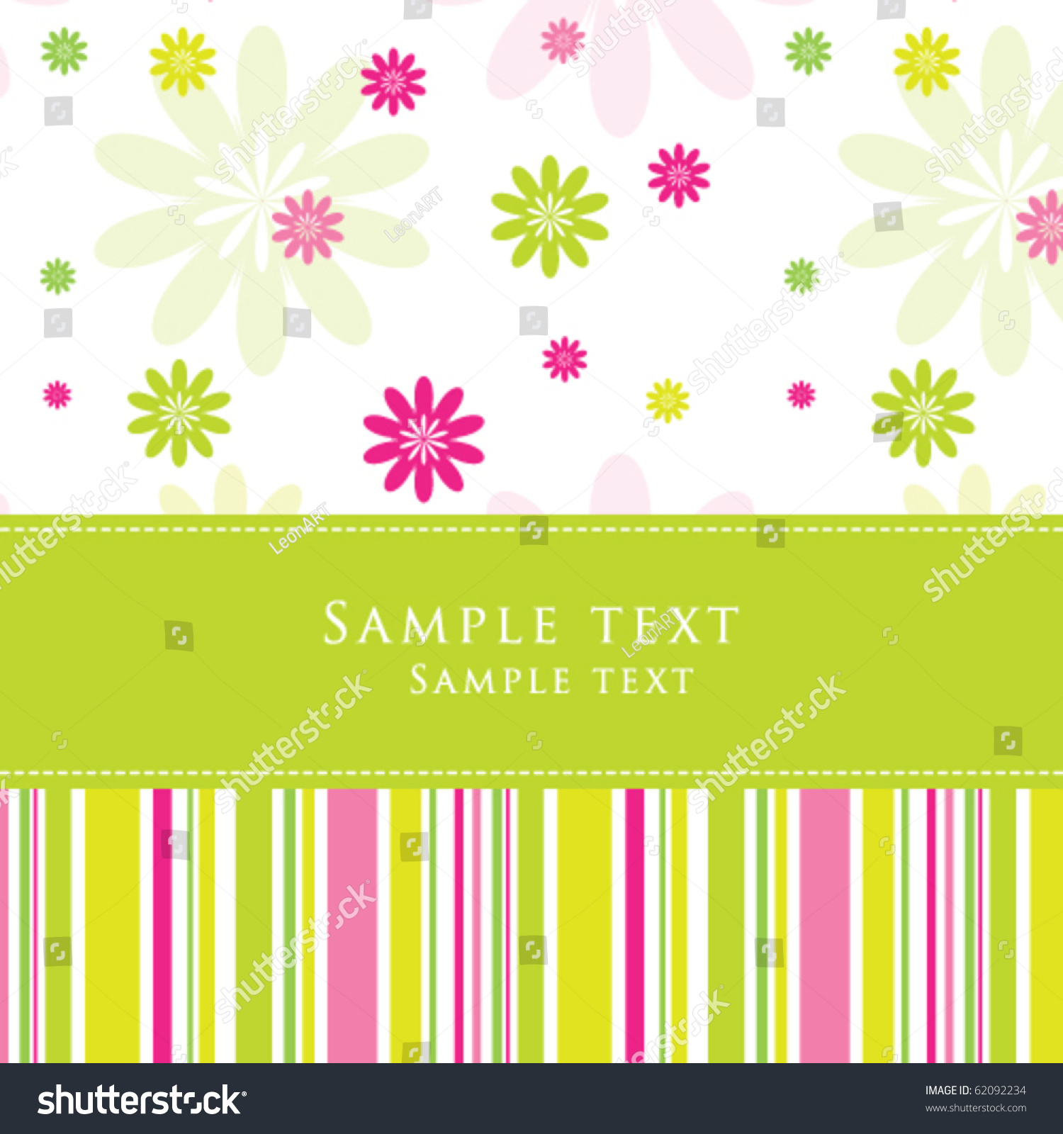 Birthday Card, Nice Greeting Card   Template , Cute Simple Design   For Baby  Shower