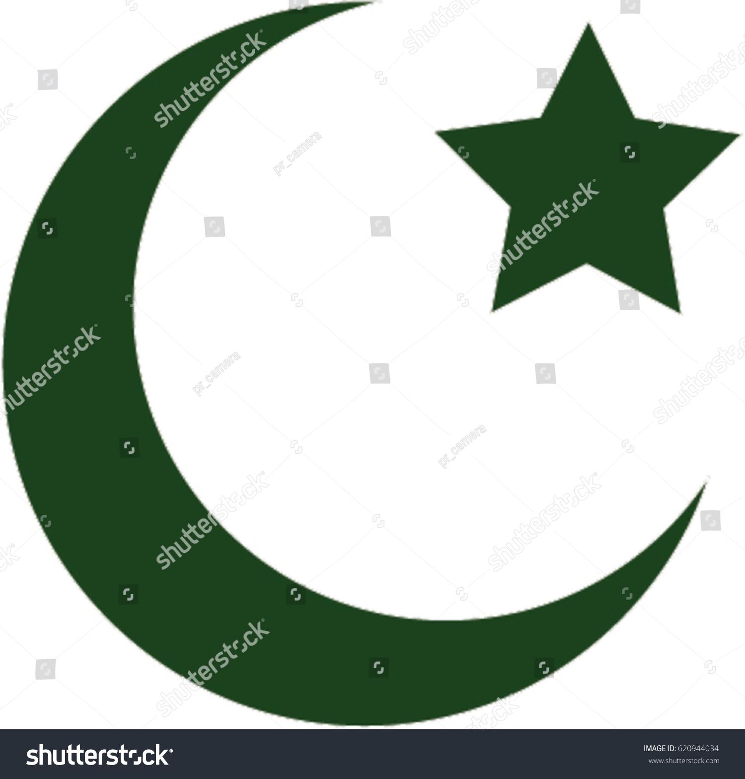 Moon star islam symbol stock vector 620944034 shutterstock moon star islam symbol buycottarizona