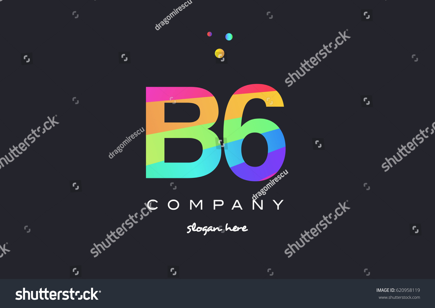 B 6 B 6 Six Letter Number Stock Vector (Royalty Free) 620958119