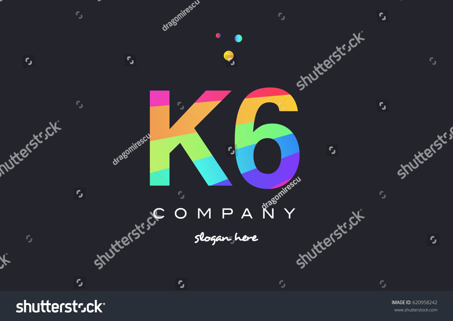 K 6 K 6 Six Letter Number Stock Vector (Royalty Free) 620958242