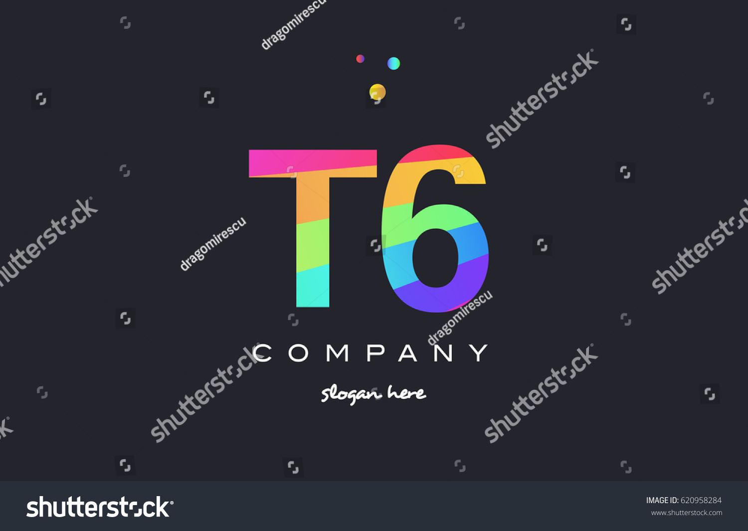 T 6 T 6 Six Letter Number Stock Vector (Royalty Free) 620958284