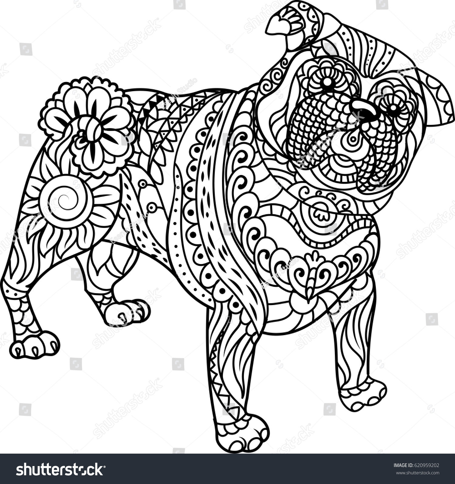 Pug Coloring Pages To Print Elioleracom