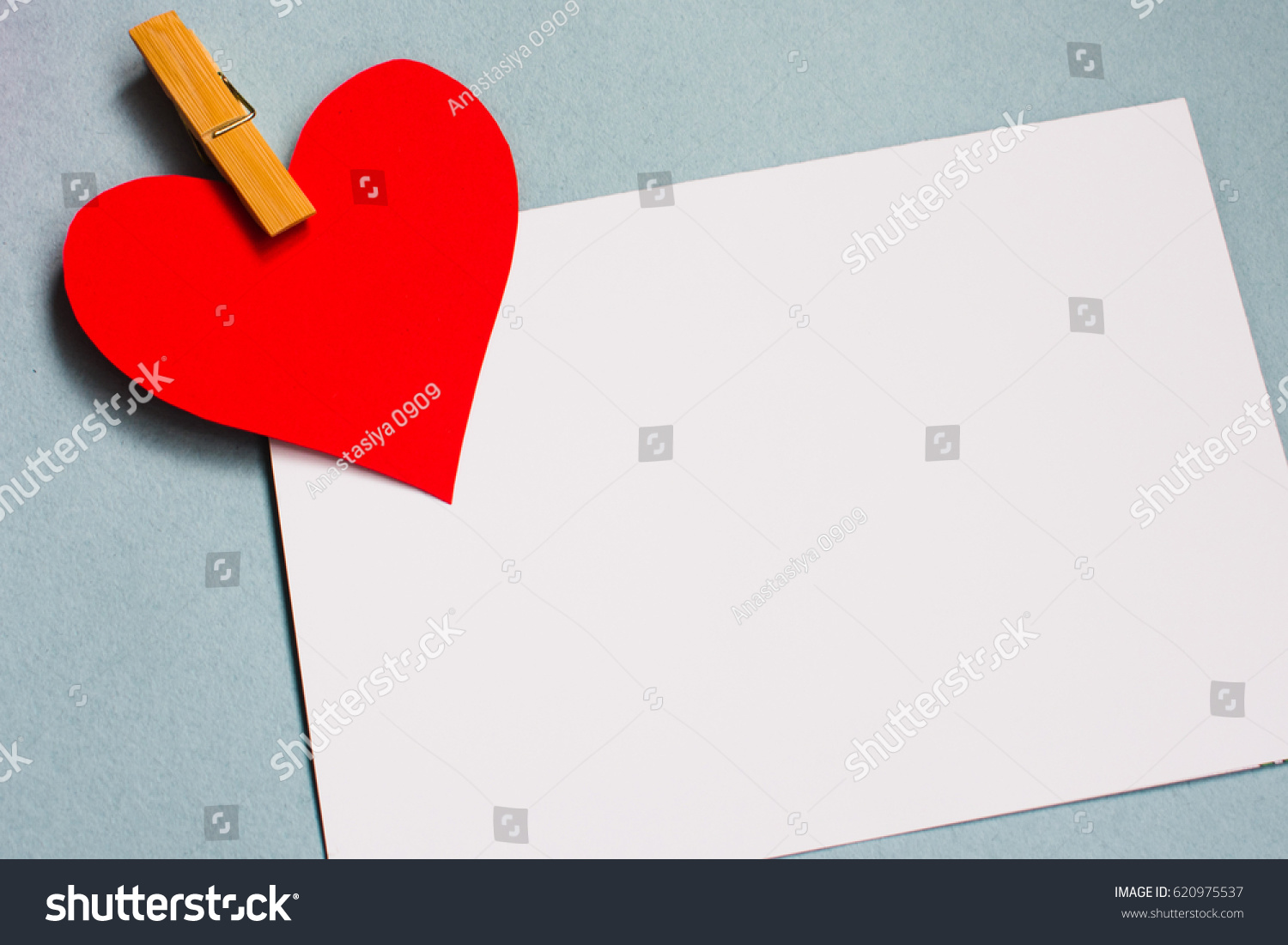 Background Blue Heart Love Letter Close Stock Photo Edit Now