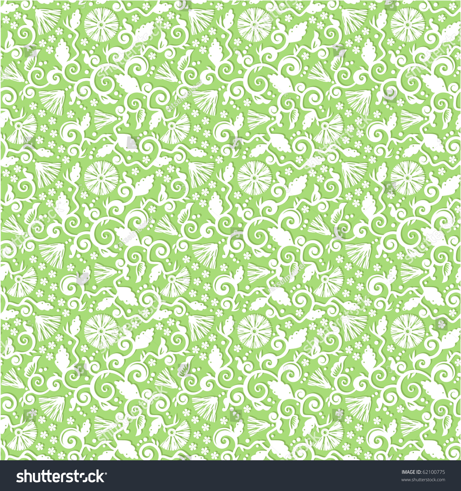 This is a picture of Priceless Light Green Pattern Background