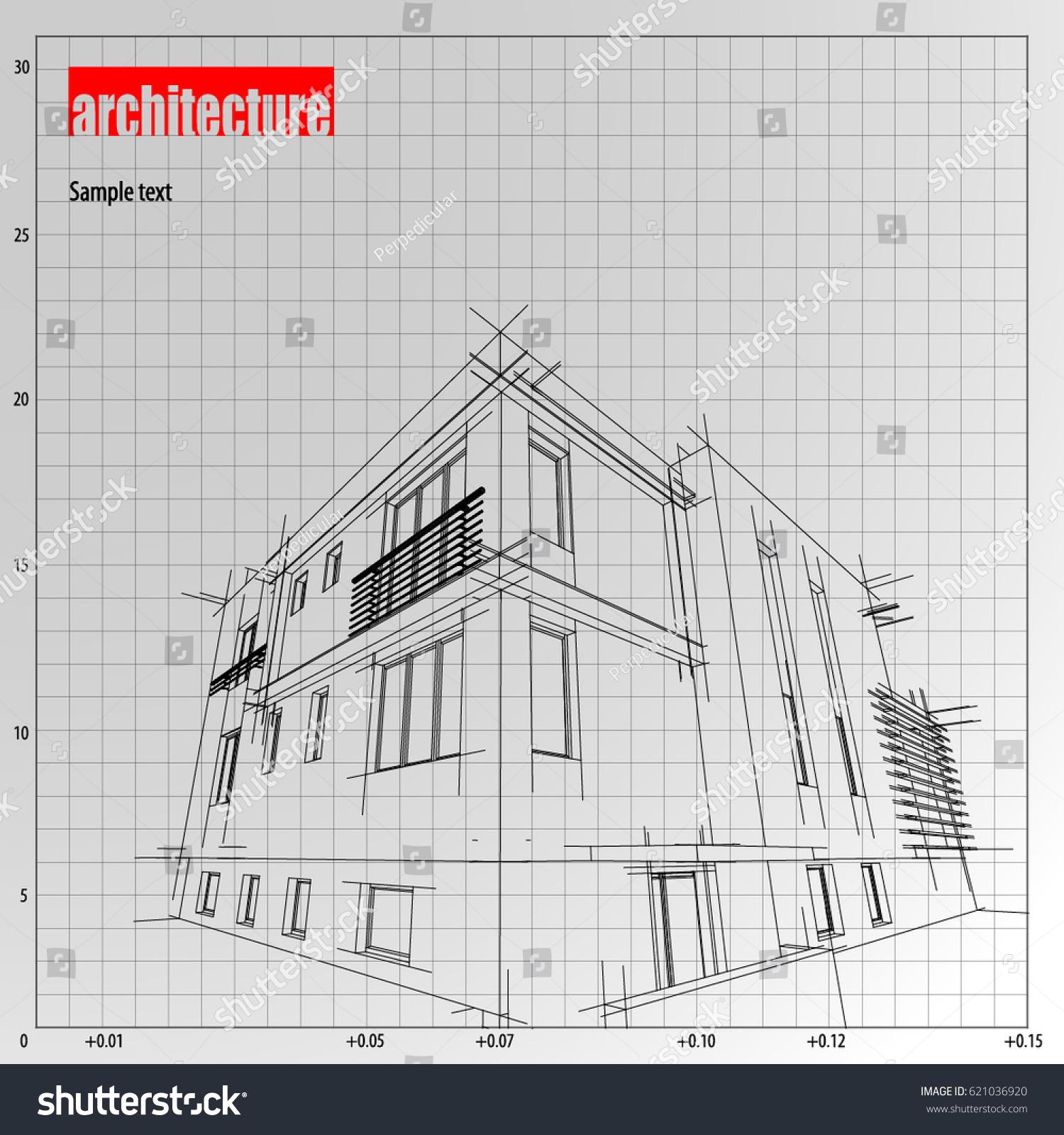 Architecture grid blueprint background sample stock vector royalty architecture grid blueprint background sample malvernweather Choice Image
