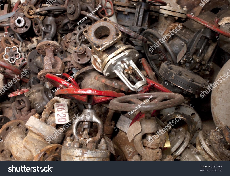 Old Rusty Technology Vintage Valves Tubes Stock Photo 62110763 ...
