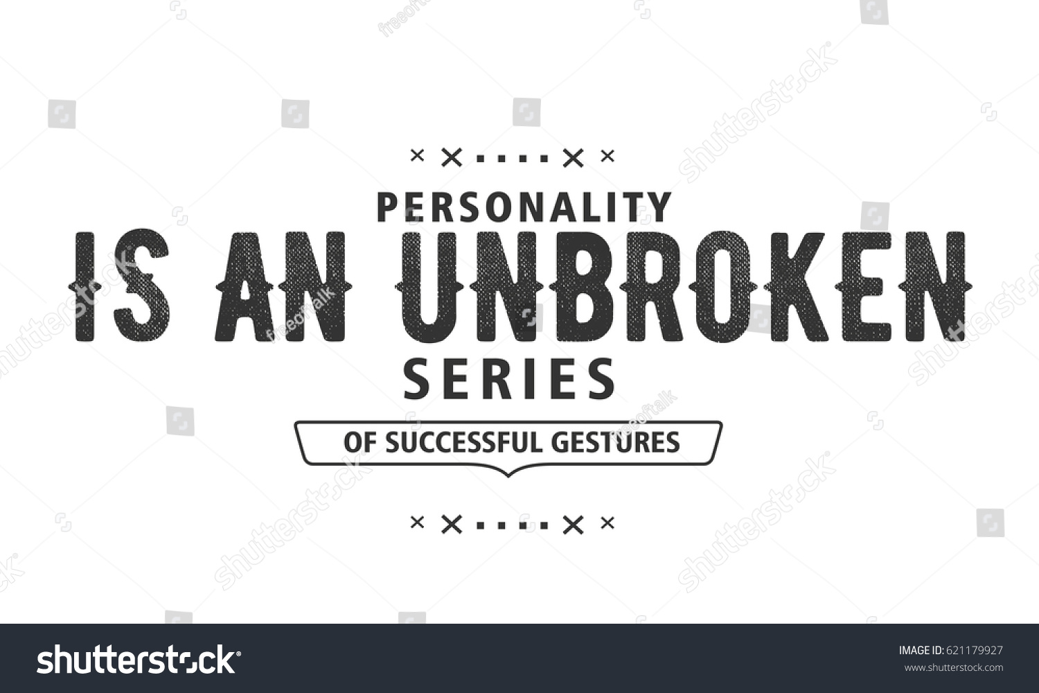 Unbroken Quotes Personality Unbroken Series Successful Gestures Personality Stock