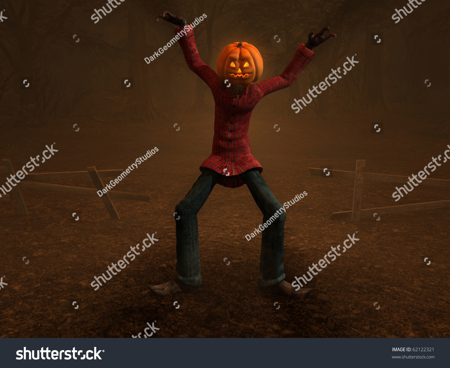 Halloween Maan.Pumpkin Man Halloween Man Character Stock Illustration
