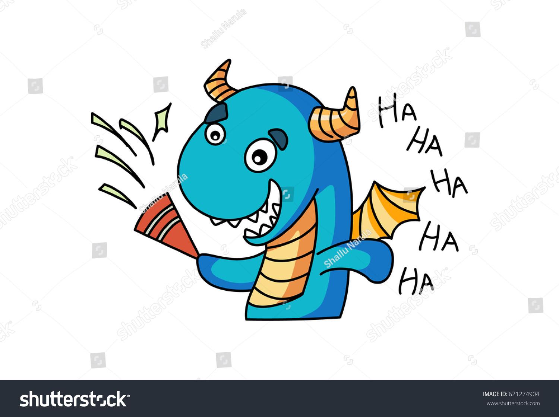 cute dragon vector illustration isolated on stock vector 621274904