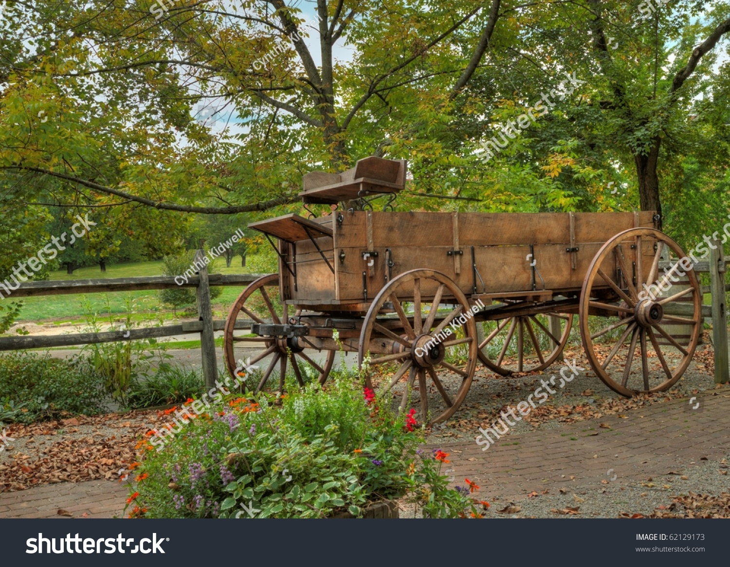old wooden cart standing in the sun | EZ Canvas