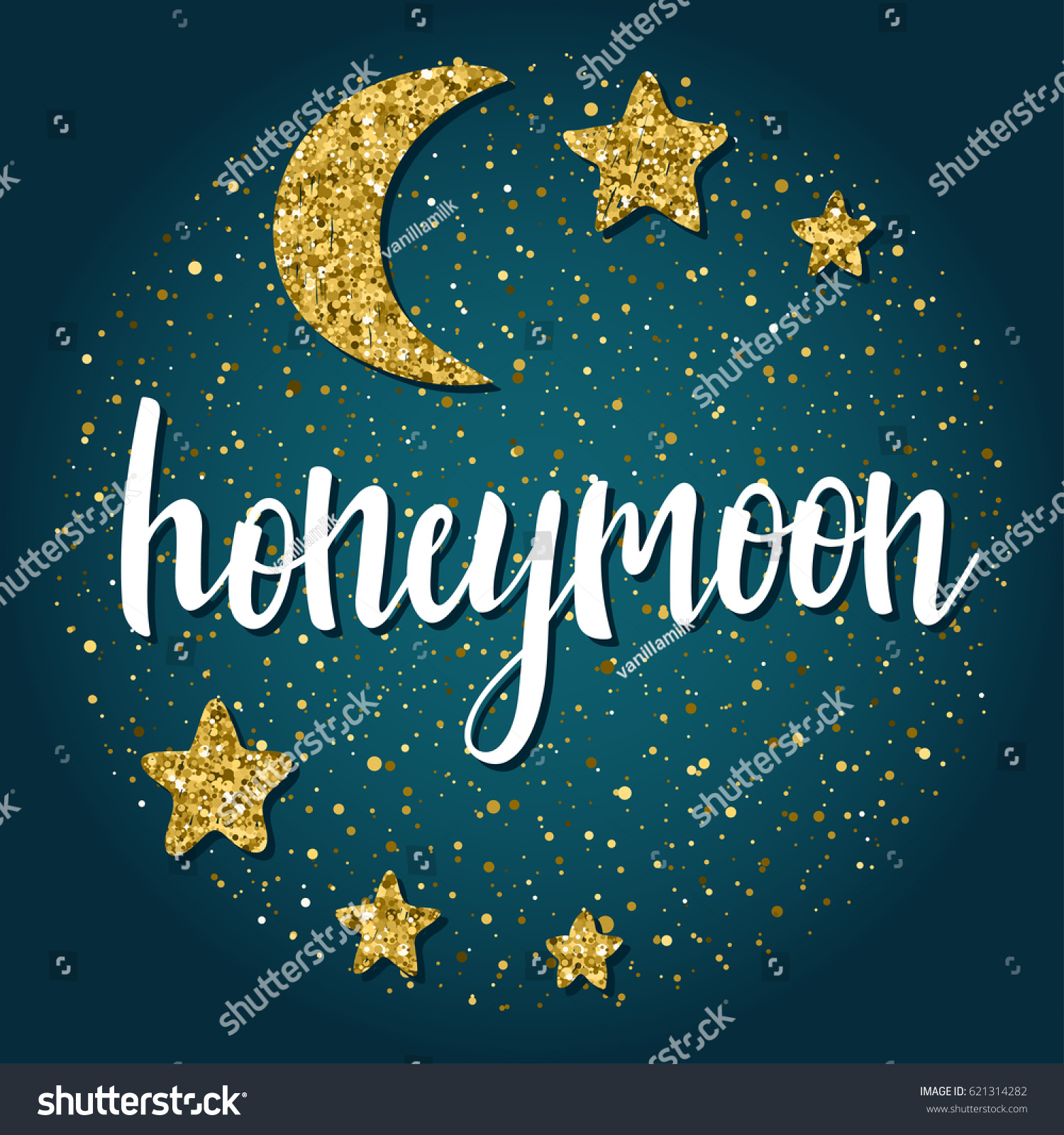 Honeymoon greeting cards images greeting card examples honeymoon handwritten romantic quote lettering hand stock vector honeymoon handwritten romantic quote lettering hand drawn moon kristyandbryce Images