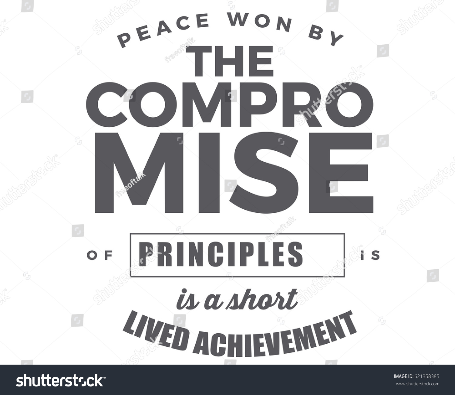 Peace Won By Compromise Principles Shortlived Stock Vector Royalty