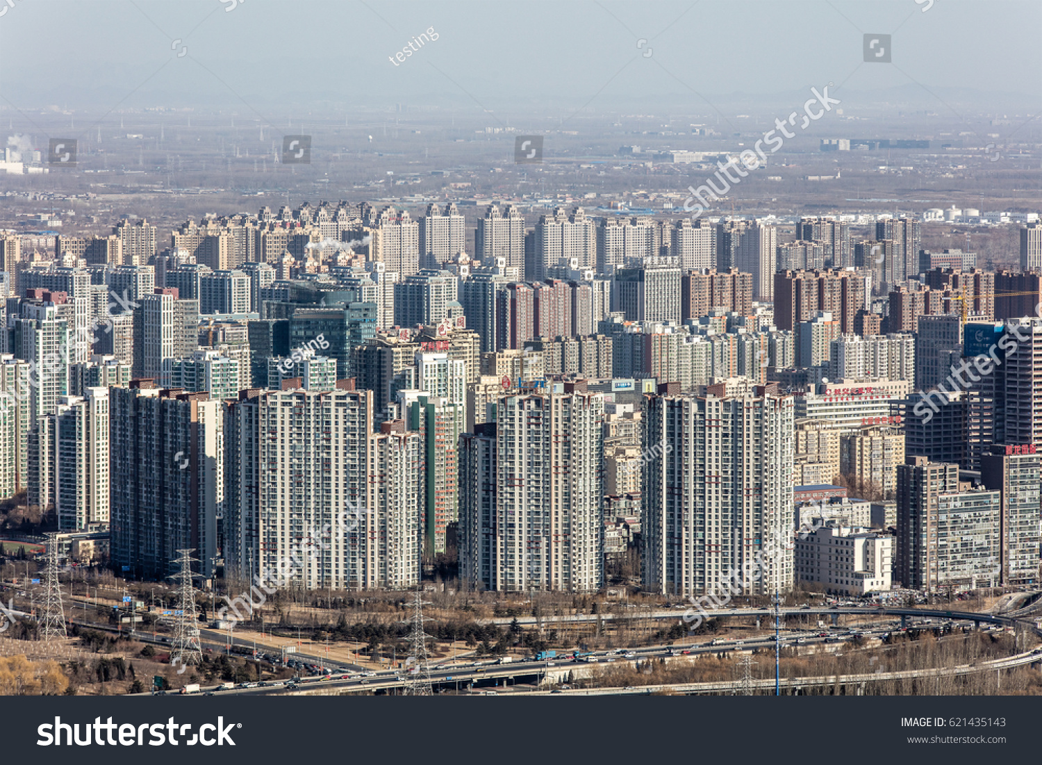 Beijing China January 21 2017 Aerial Stock Photo (Edit Now