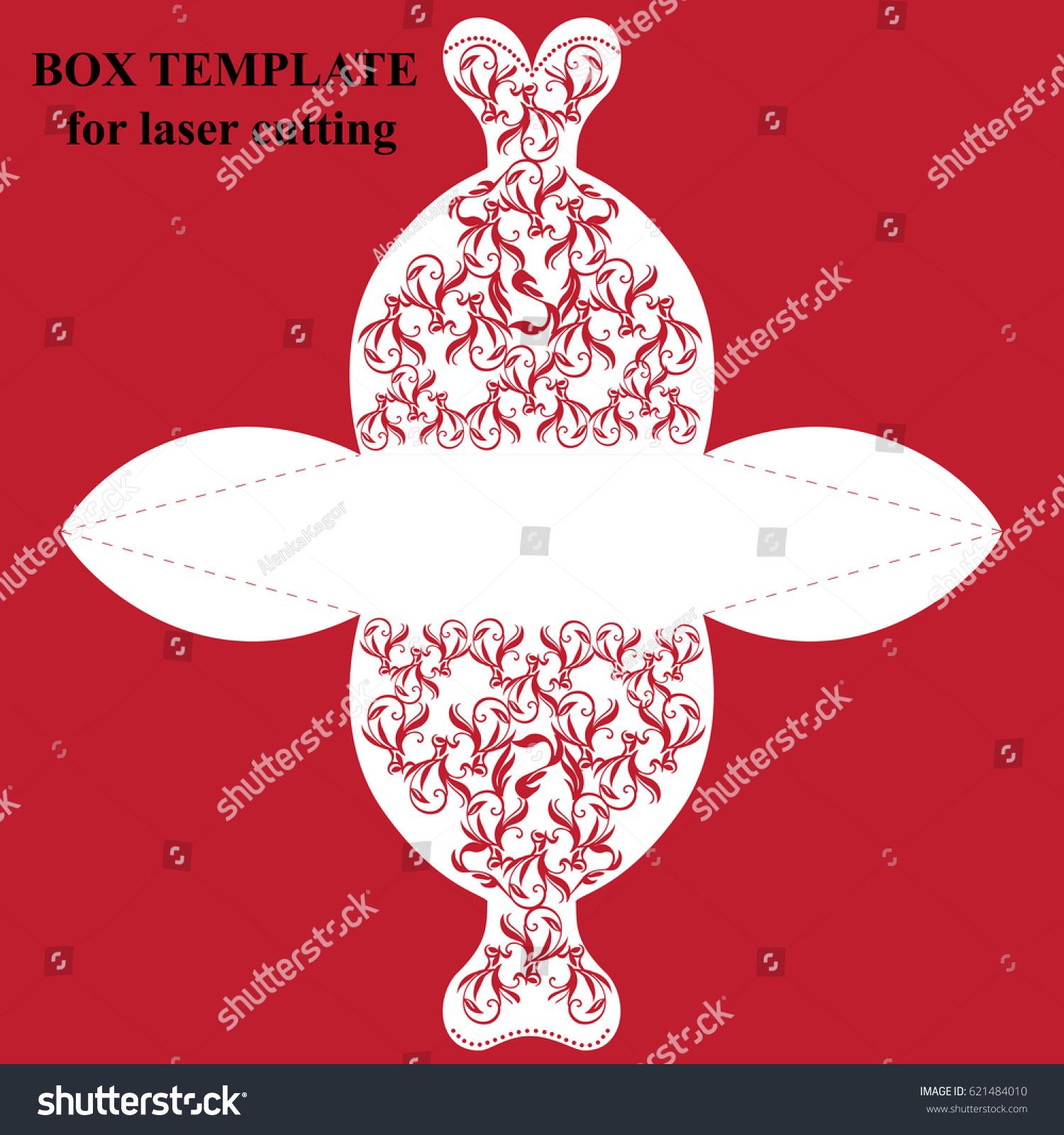 Wedding Invitation Greeting Card Bonbonniere Box Stock Vector ...