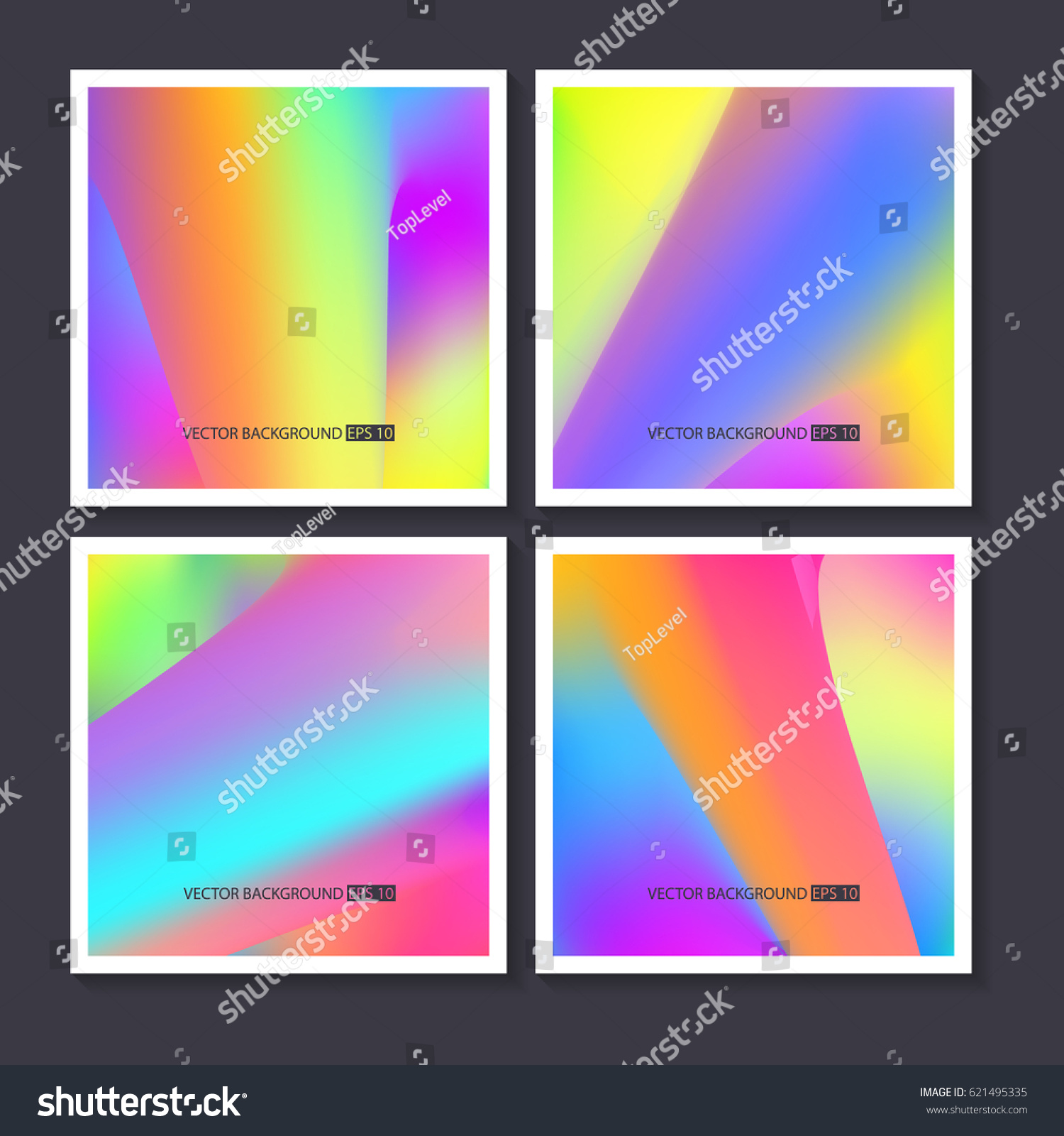 Hologram bright colorful backgrounds set vector stock vector hologram bright colorful backgrounds set vector mesh template design for greeting card report kristyandbryce Gallery