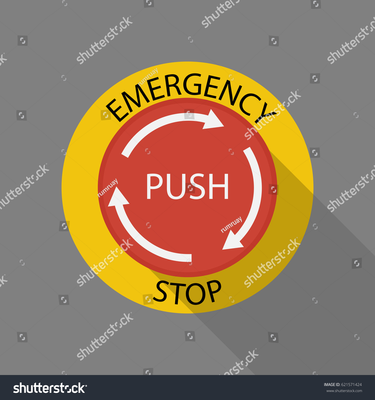 Emergency stop icon clipart emergency off - Emergency Stop Button