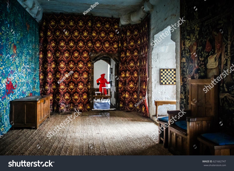 castle interior design. Isle Of Man Douglas June 2 2016: Vintage Room Interior Design In Old Castle Rushen