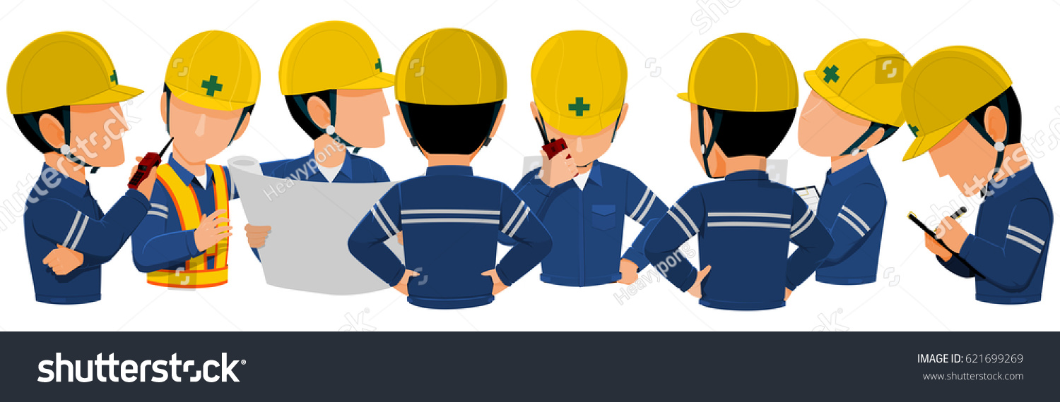 workers meeting together on transparent background stock vector