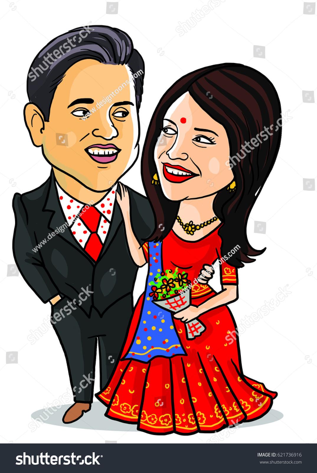 Wedding Caricature Stock Illustration 621736916 - Shutterstock