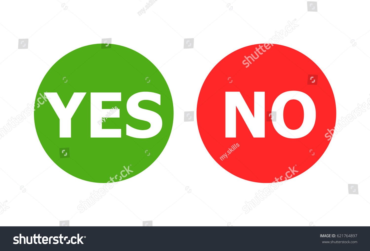 Symbols yes no stock vector 621764897 shutterstock symbols for yes and no buycottarizona Gallery