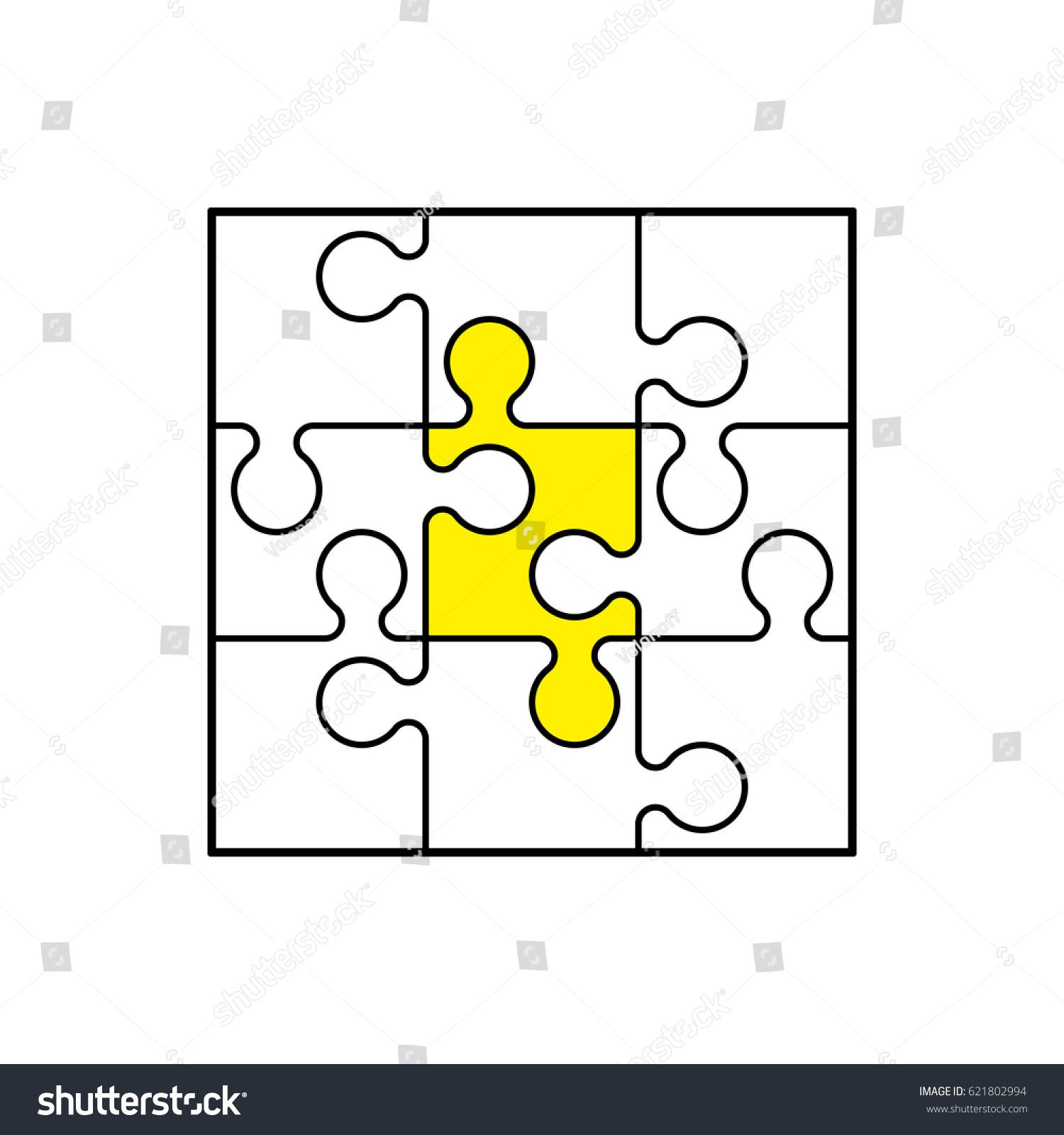 puzzle background pattern many step circle stock vector