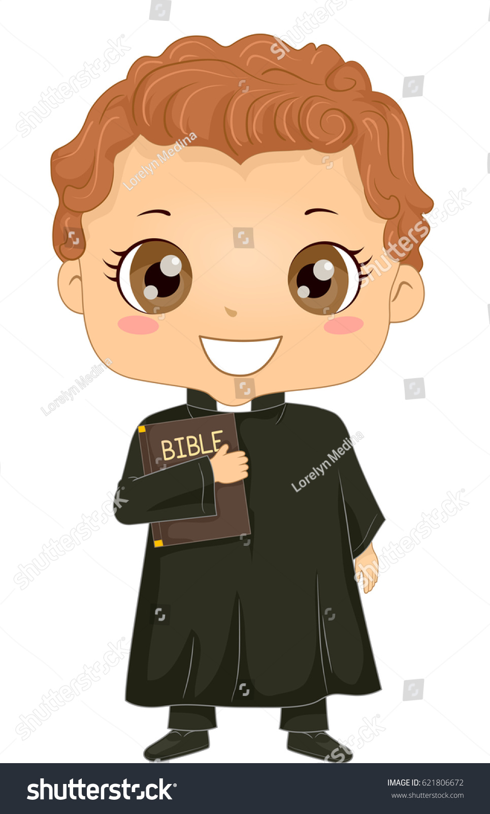 bible story illustration little boy wearing stock vector 621806672