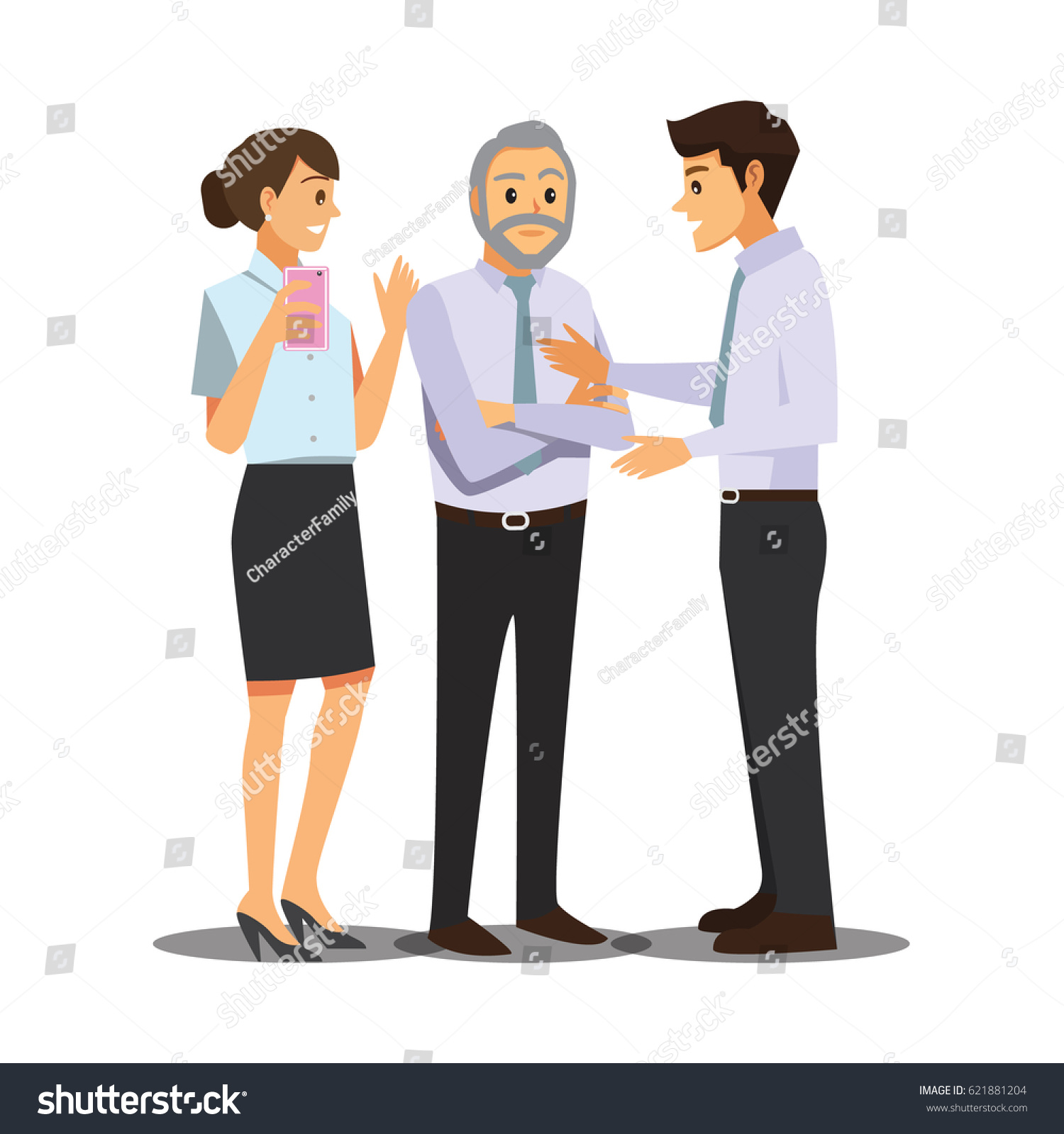 Business team cartoon characters cartoon vector cartoondealer com - Business And Office Concept Business People Consulting Vector Illustration Cartoon Character