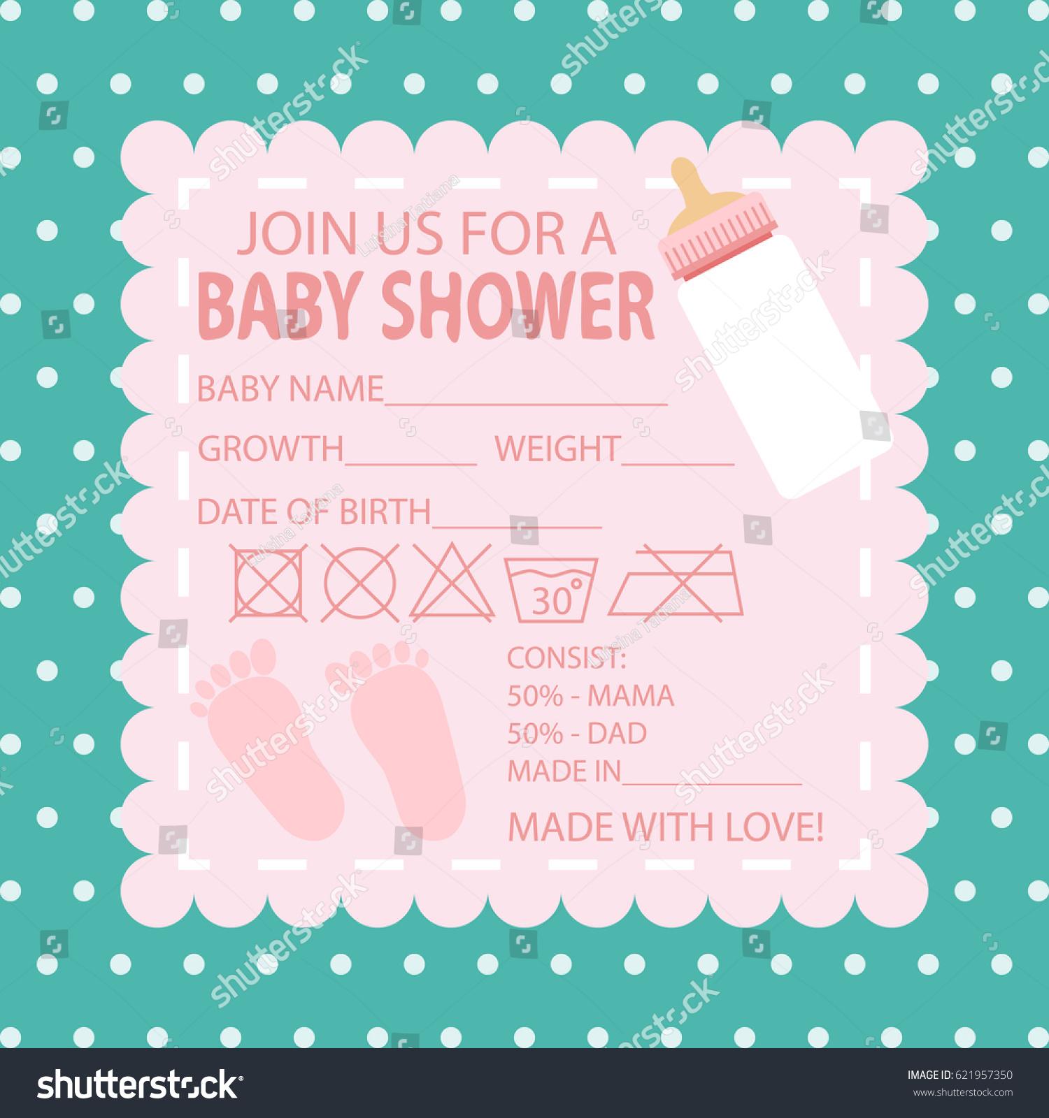 Happy Birthday Baby Shower Newborn Celebration Stock Vector ...