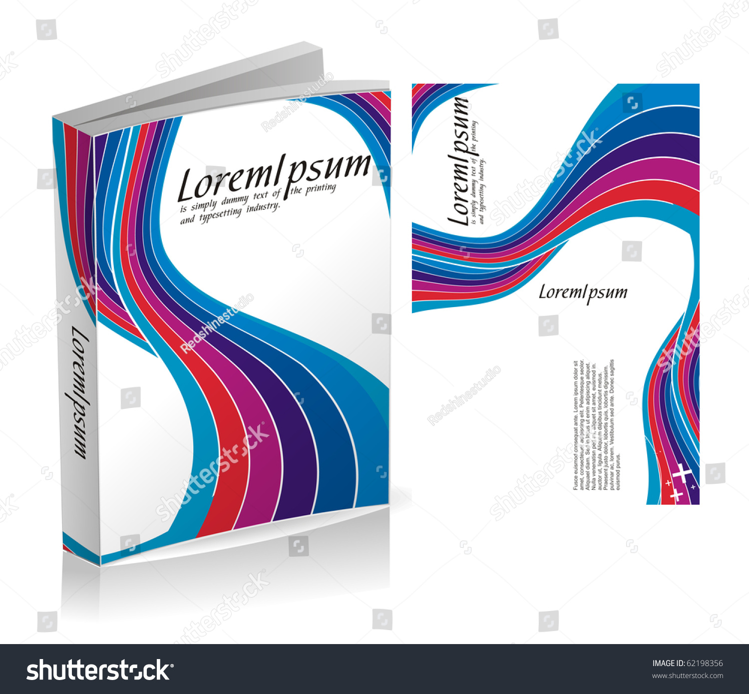 Book Cover Vector Graphic : Book cover design isolated over colorful background