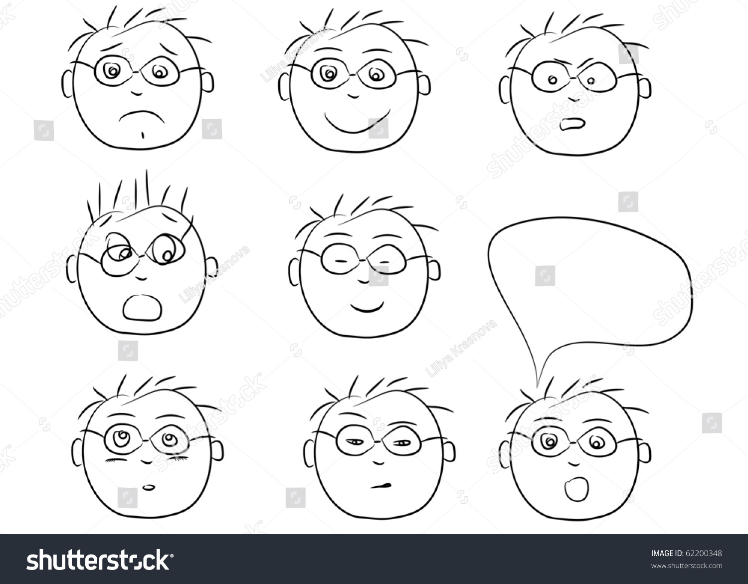 Crying Face Clip Art Black And White