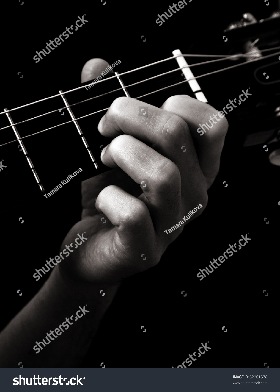Dominant Seventh Chord D 7 On Classical Stock Photo Royalty Free